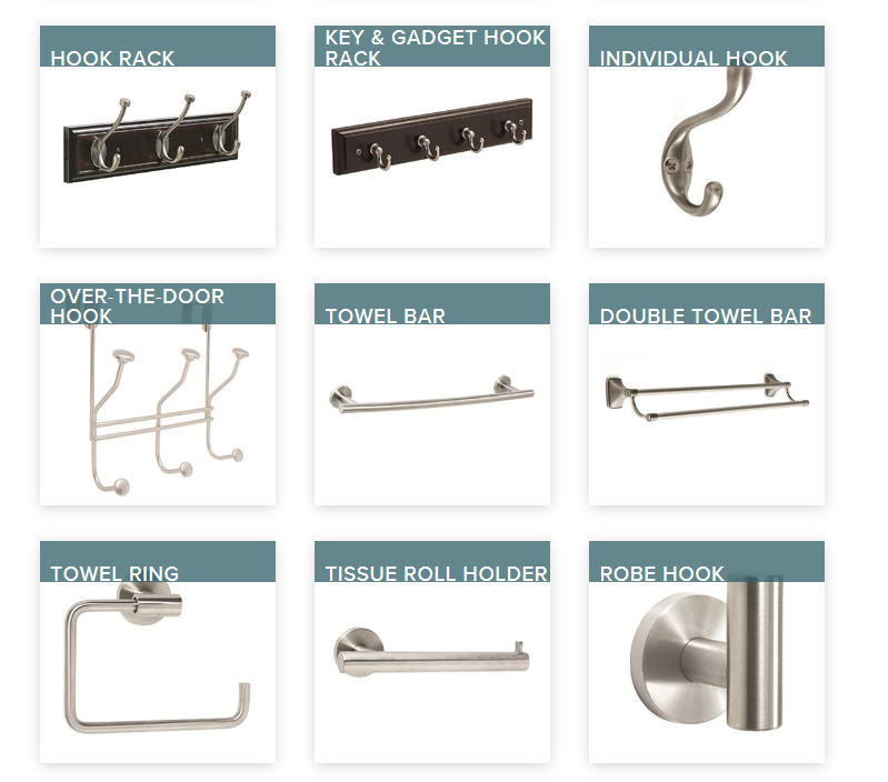 Amerock hooks and holder